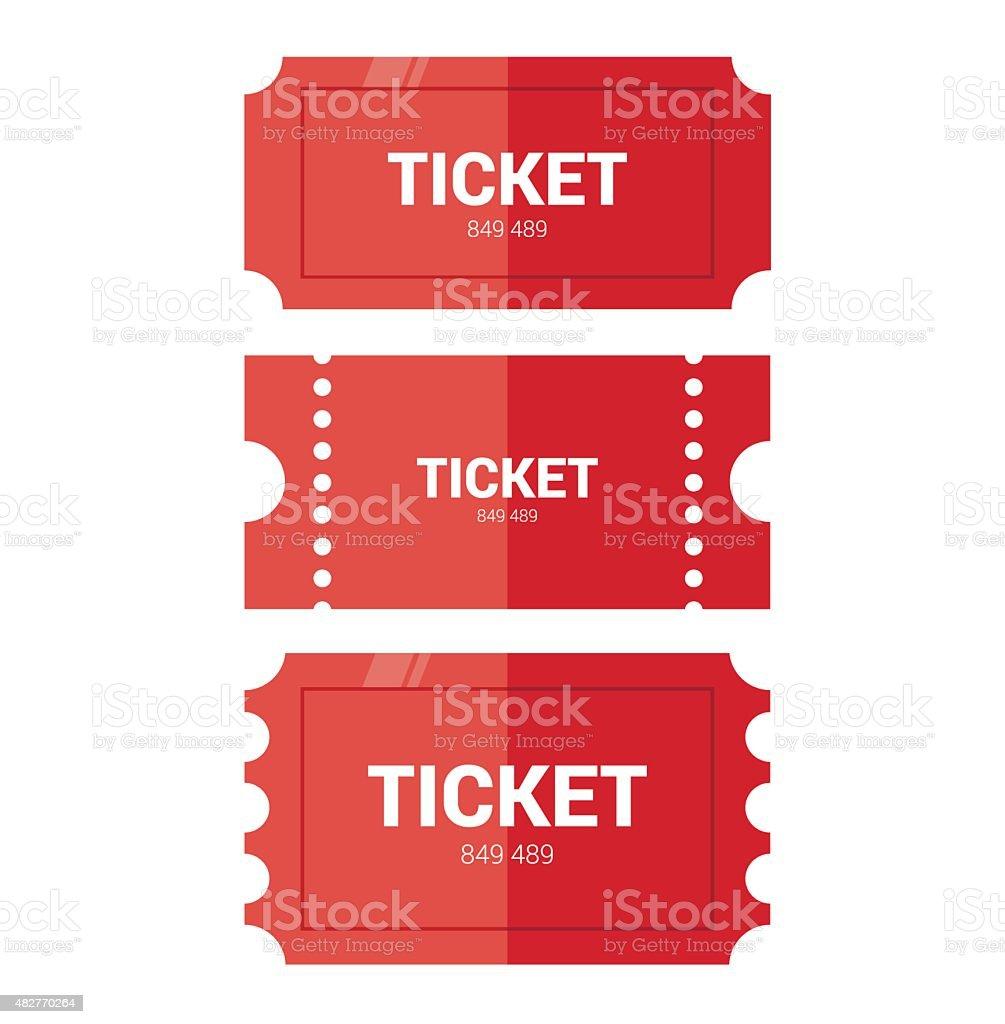 Tickets icon. Flat design vector art illustration