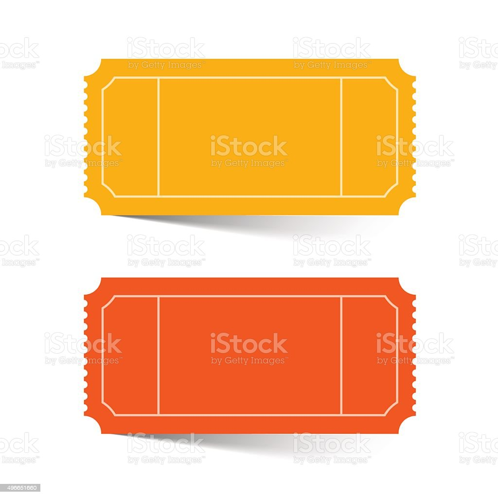 Tickets Set - Red and Orange Vector vector art illustration