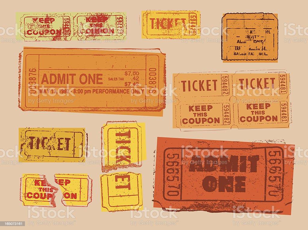 Tickets royalty-free stock vector art
