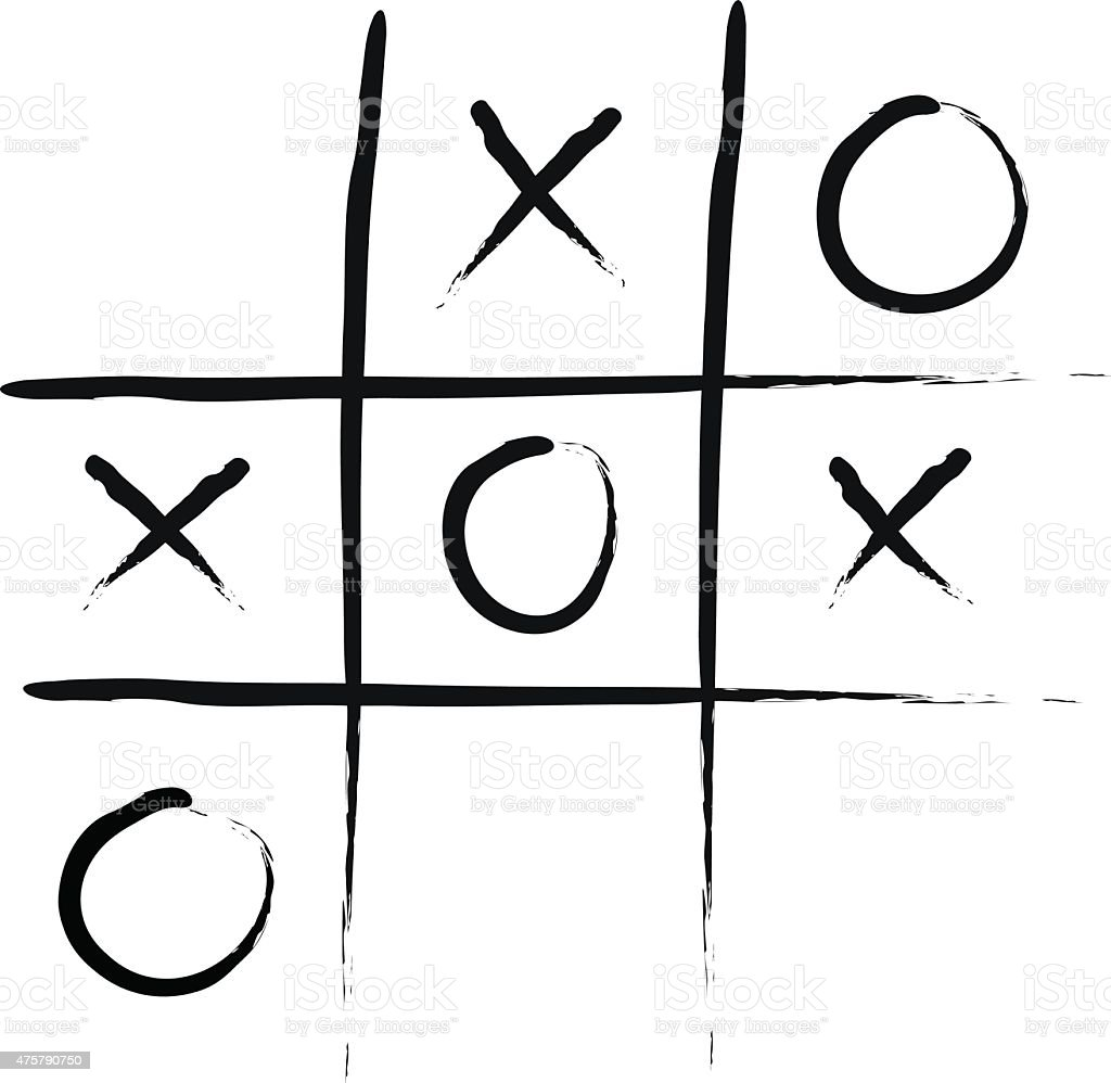 Tic-Tac-Toe vector art illustration