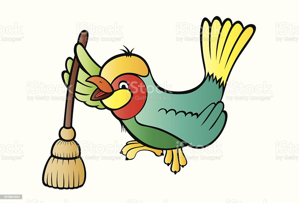 Tidy bird royalty-free stock vector art