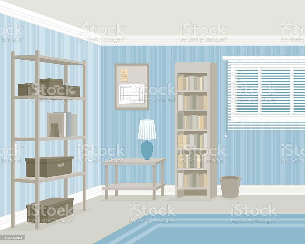Tidy room royalty-free stock vector art