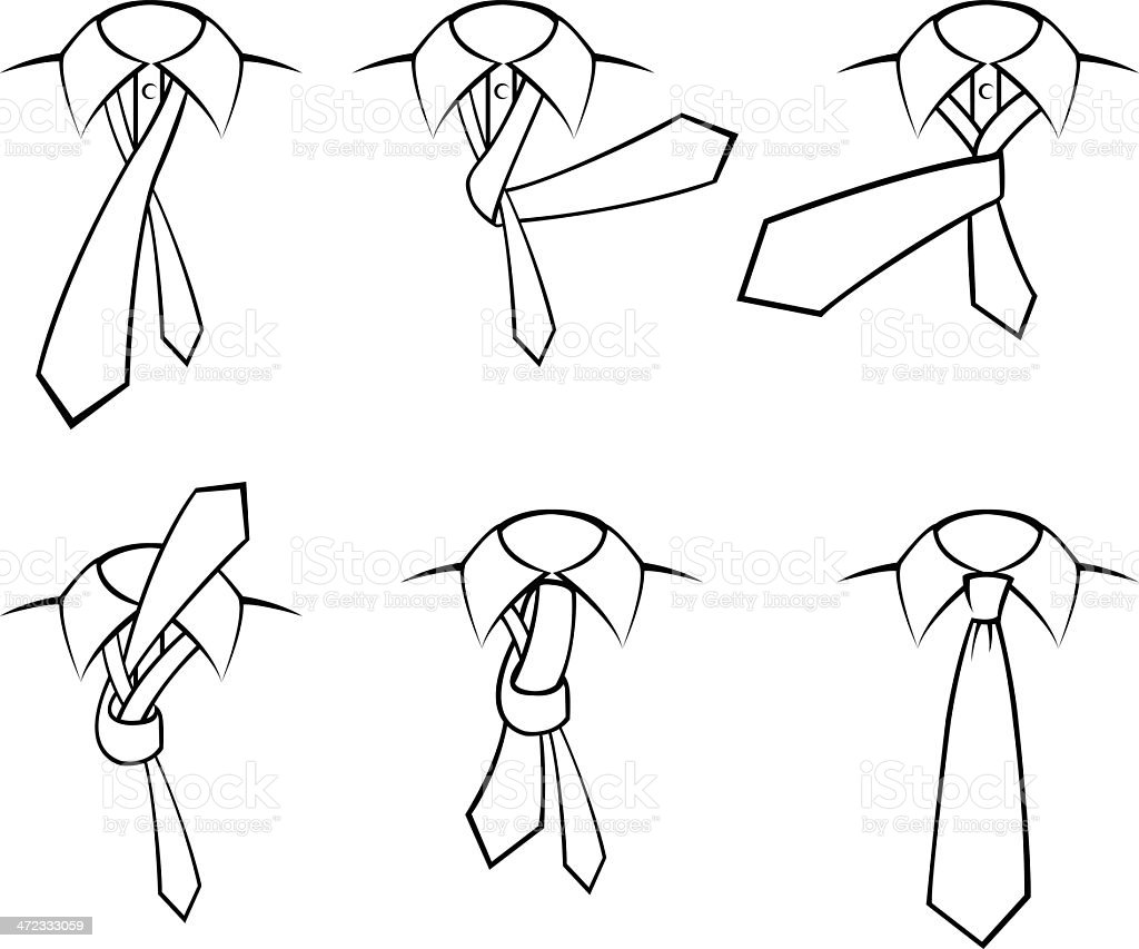 Tie simple knot vector art illustration