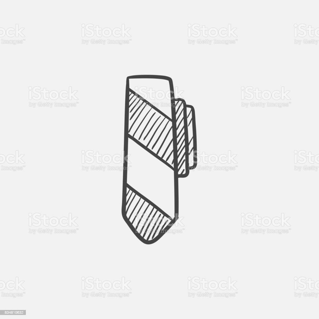 Tie sketch icon vector art illustration