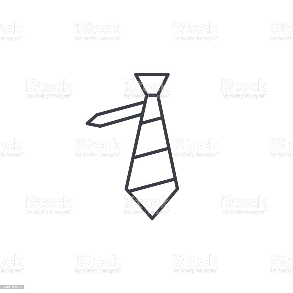 tie thin line icon. Linear vector symbol vector art illustration