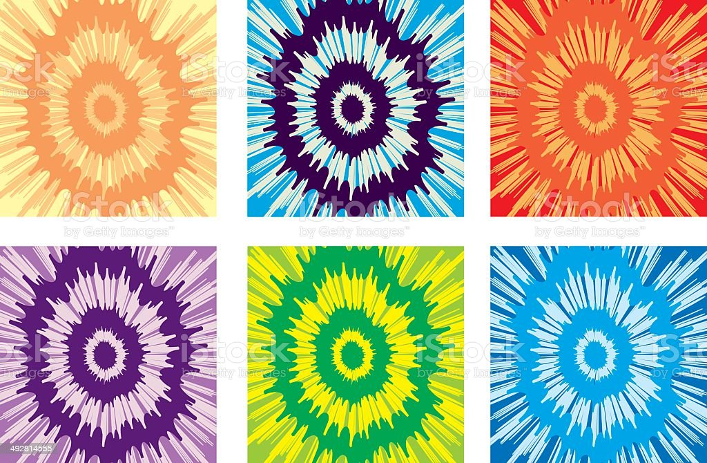 Tie-dye Pattern vector art illustration