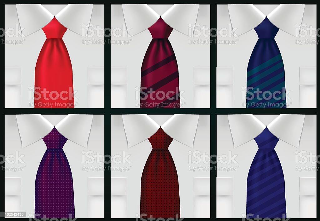ties royalty-free stock vector art