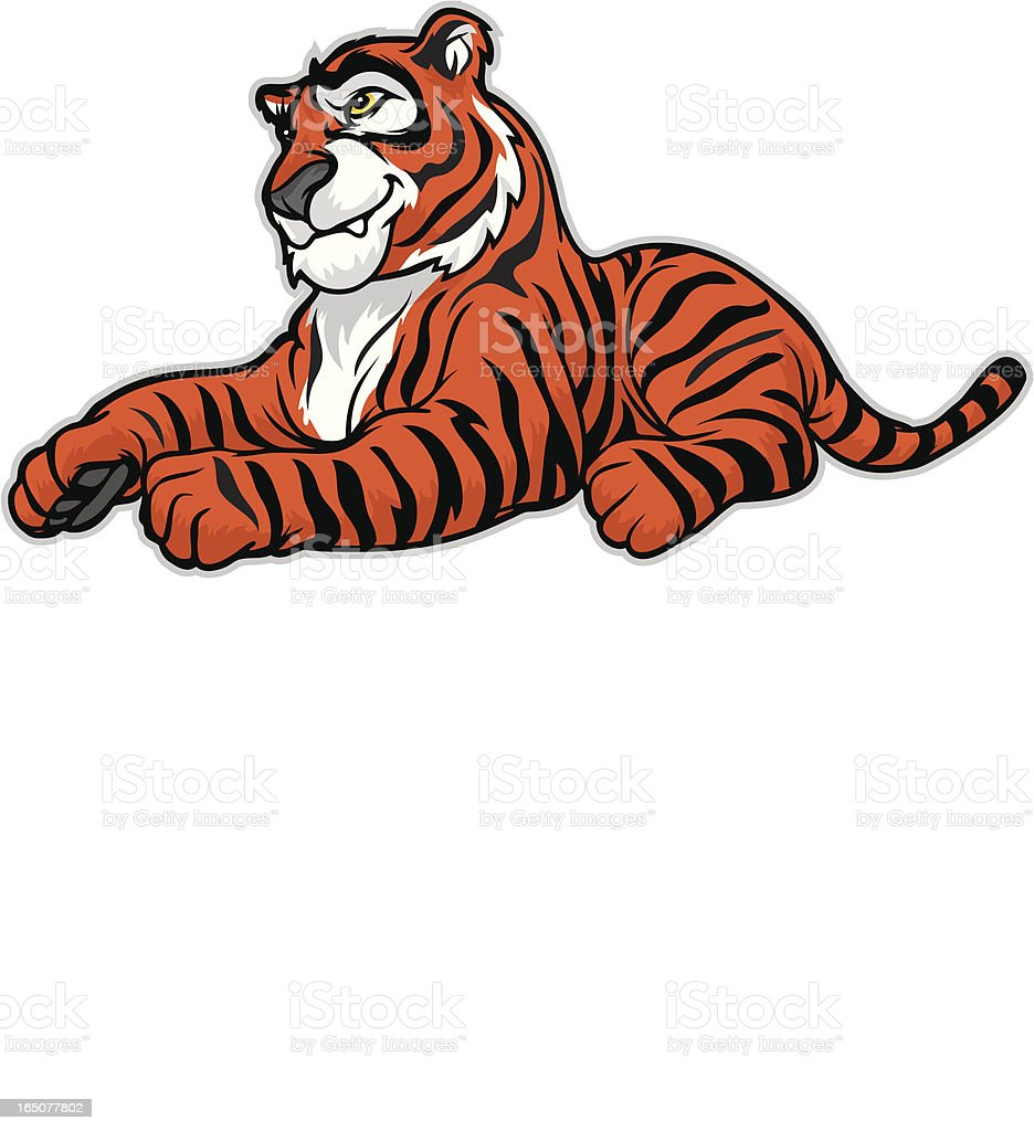 Tiger at play royalty-free stock vector art