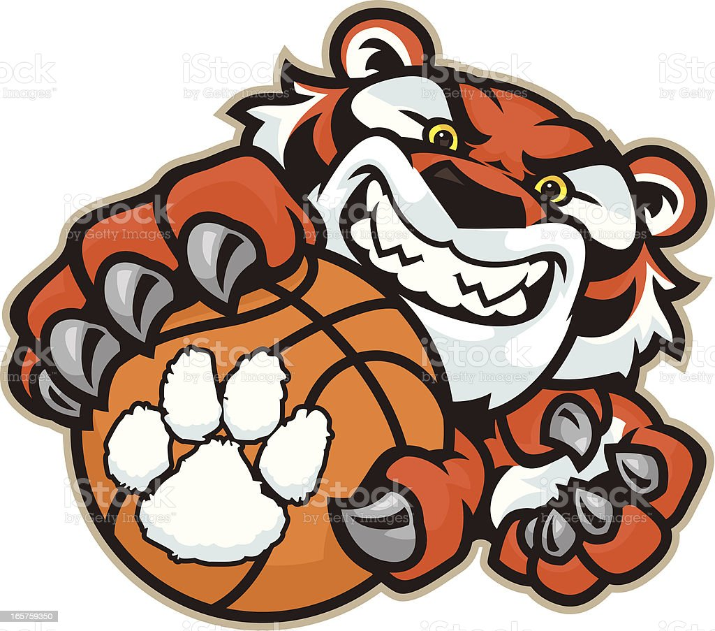 Tiger Basketball royalty-free stock vector art
