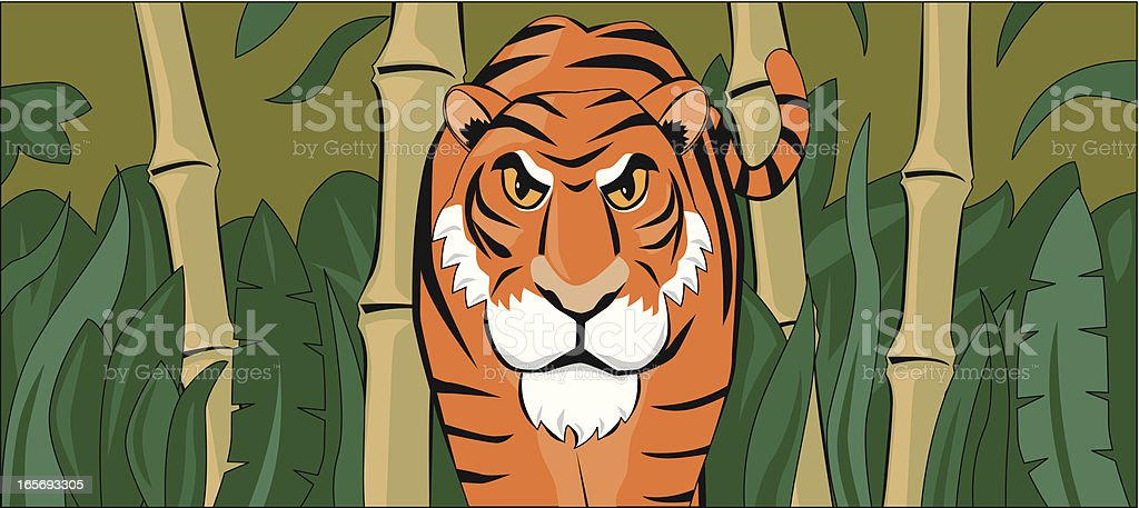 tiger cartoon banner royalty-free stock vector art