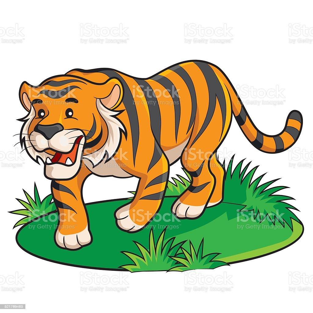 Tiger Cartoon vector art illustration