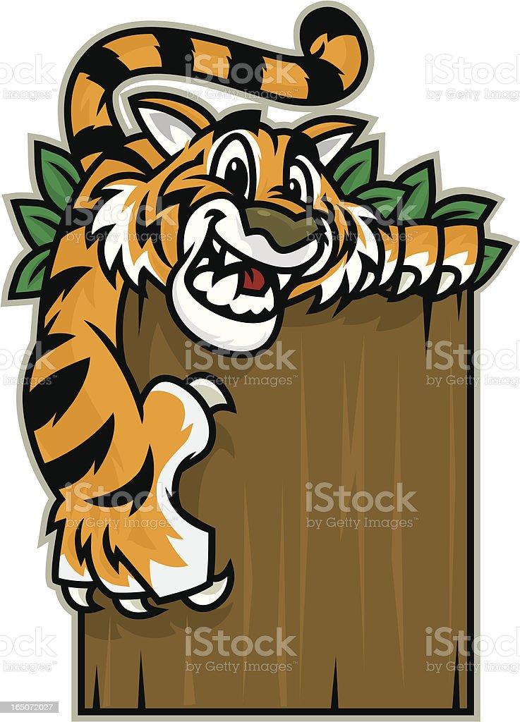 Tiger Cat Kid royalty-free stock vector art