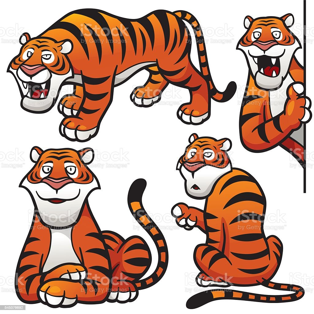 Tiger Character vector art illustration