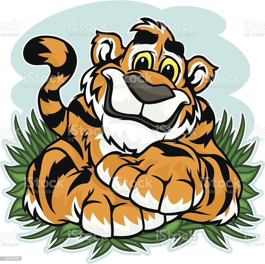 Tiger Cub royalty-free stock vector art