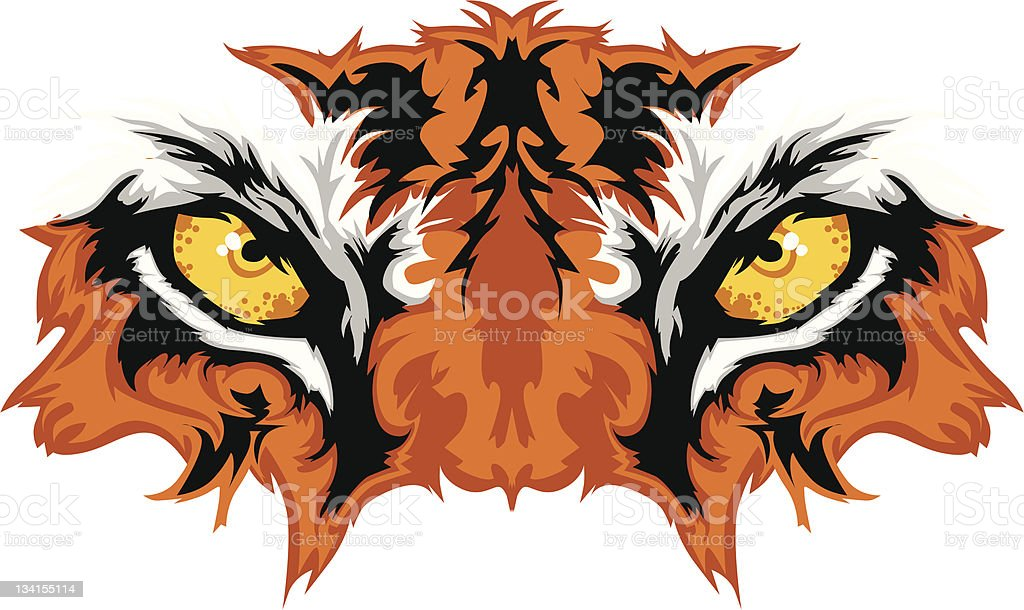 Tiger Eyes Mascot Graphic vector art illustration