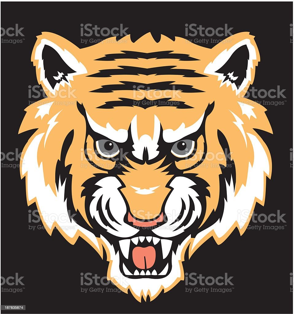 Tiger Face vector art illustration