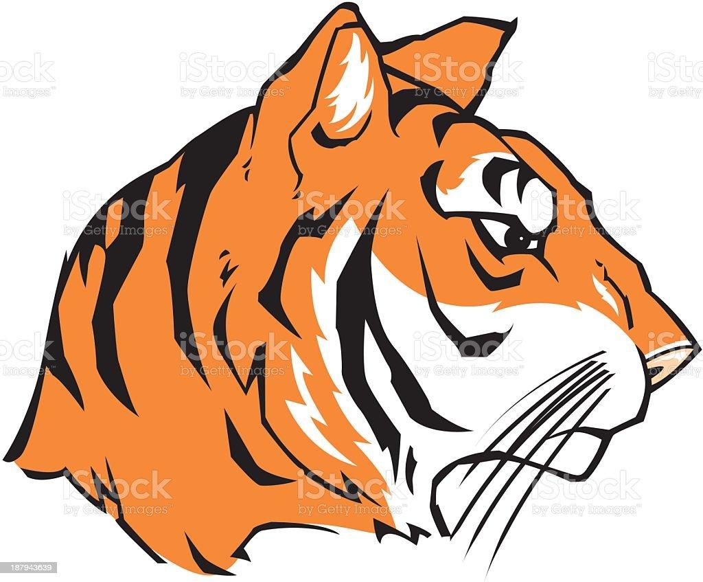 Tiger Face royalty-free stock vector art