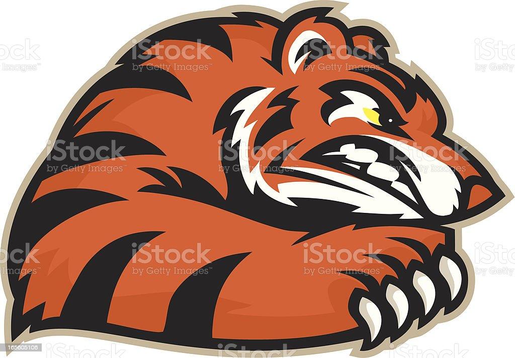 Tiger Fierce royalty-free stock vector art