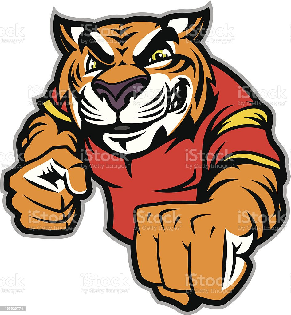 Tiger Fight Stance royalty-free stock vector art