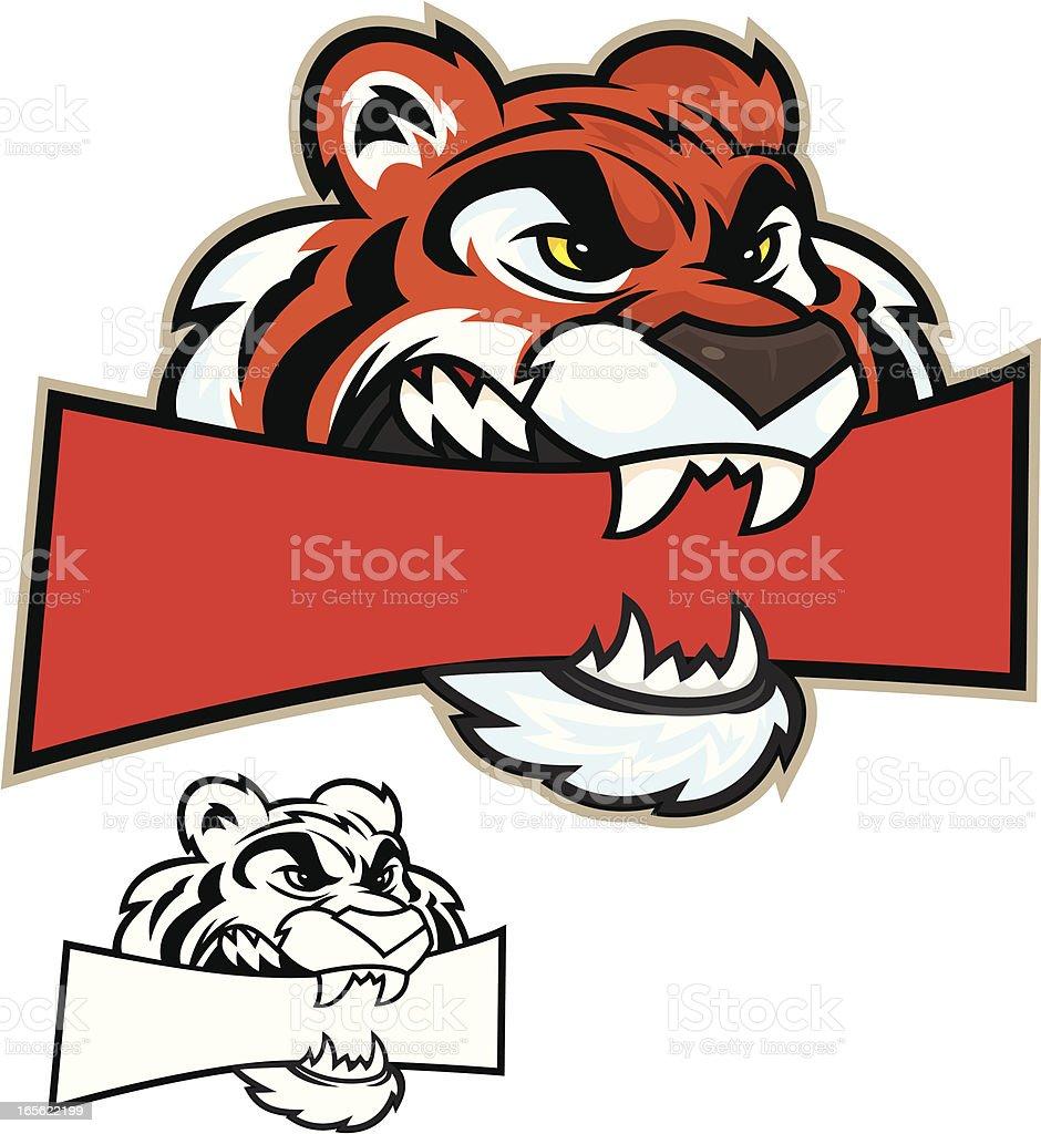Tiger Head Chew royalty-free stock vector art