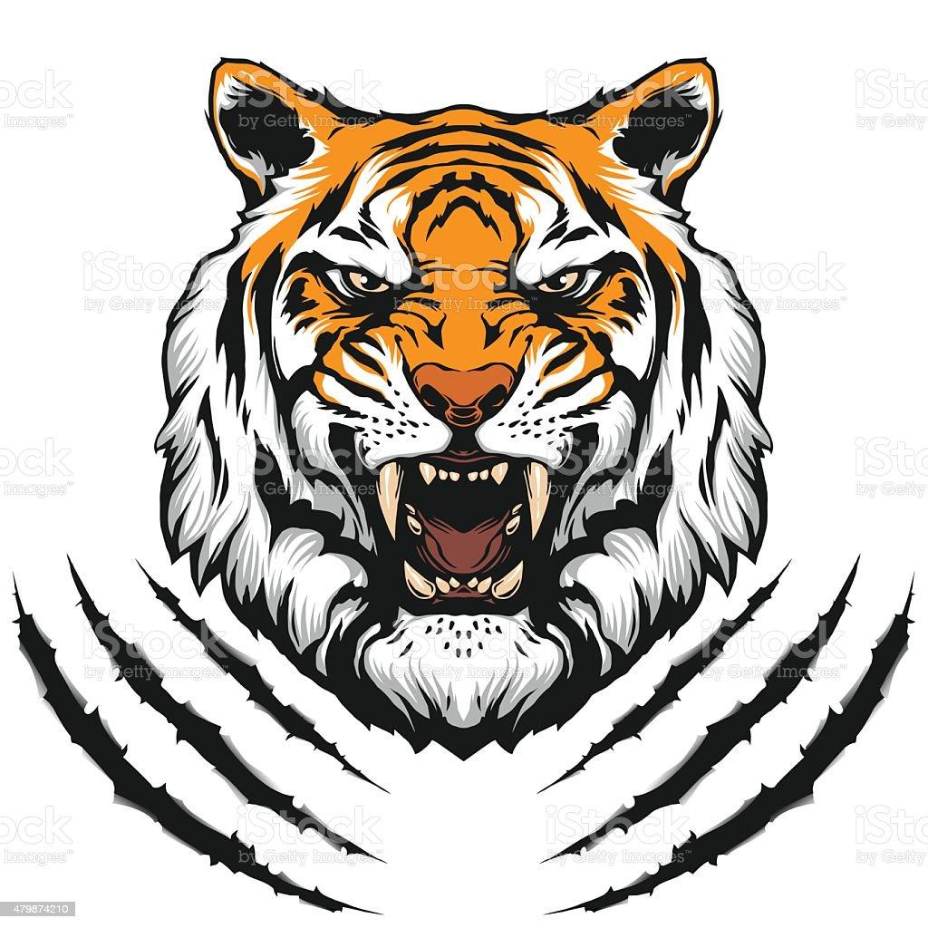 Tiger head illustration vector art illustration