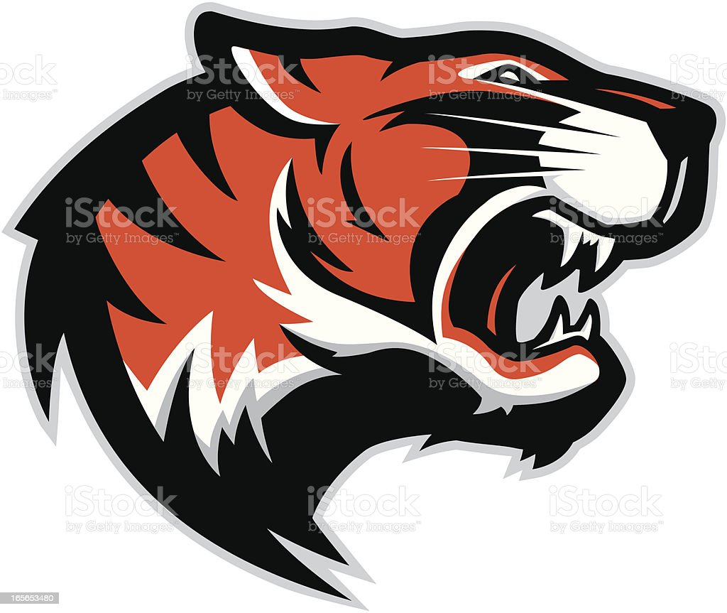 Tiger head mascot 2 vector art illustration