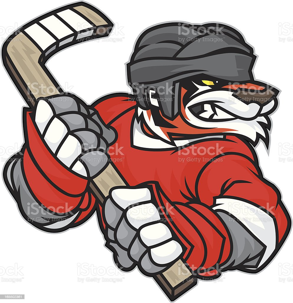 Tiger Hockey royalty-free stock vector art