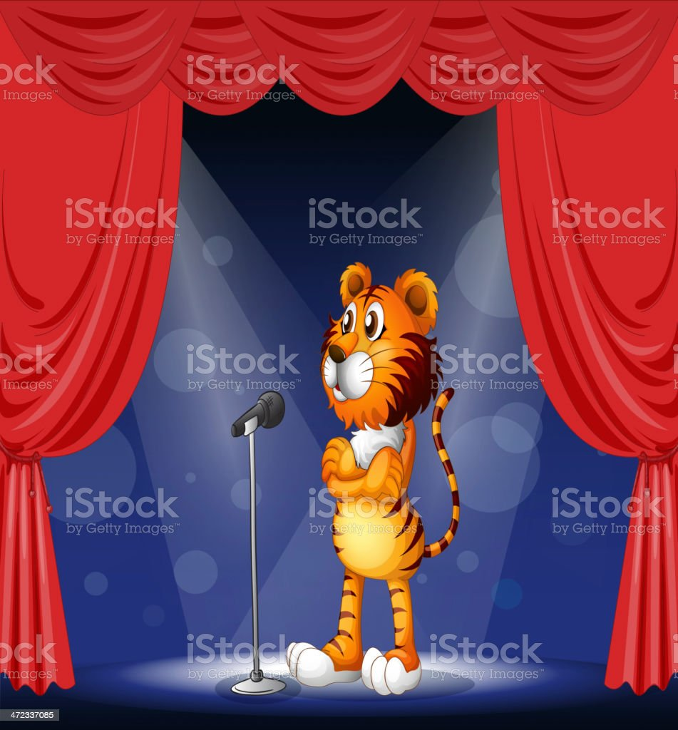 tiger in the stage royalty-free stock vector art