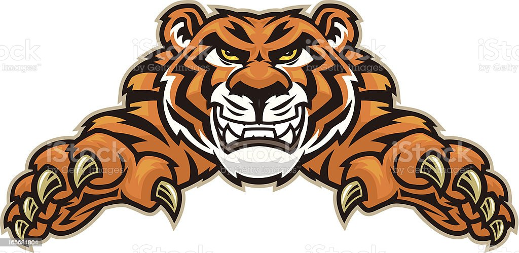 Tiger Leap vector art illustration