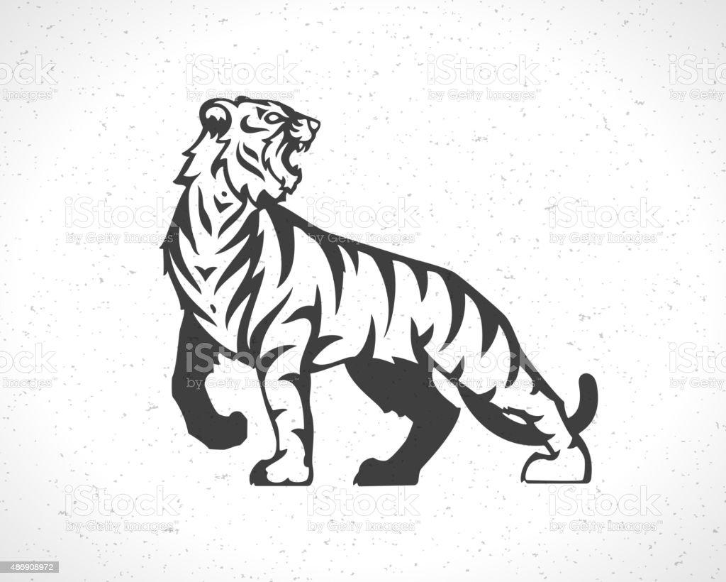 Tiger logo emblem template mascot symbol vector art illustration