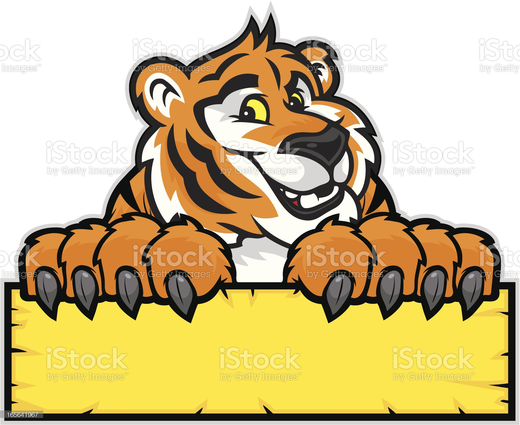Tiger Mascot Sign royalty-free stock vector art