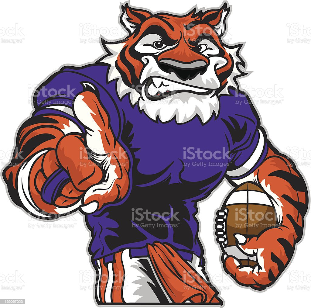 Tiger one royalty-free stock vector art