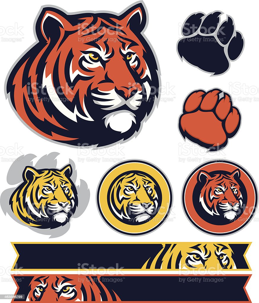 Tiger PROMO pack royalty-free stock vector art
