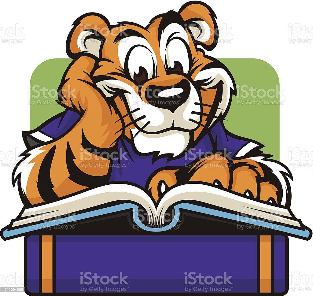 Tiger Read vector art illustration