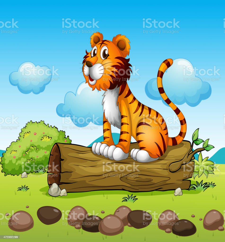 Tiger relaxing royalty-free stock vector art