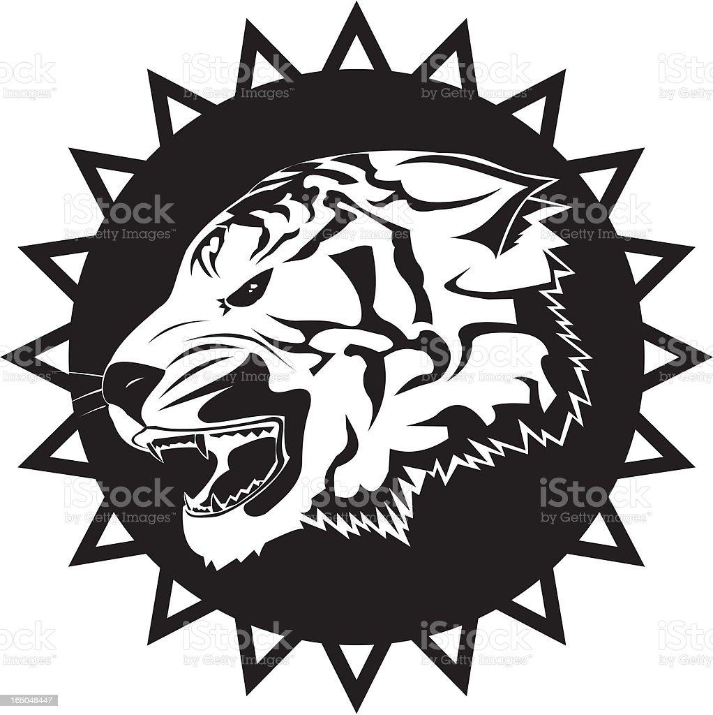 Tiger roaring royalty-free stock vector art
