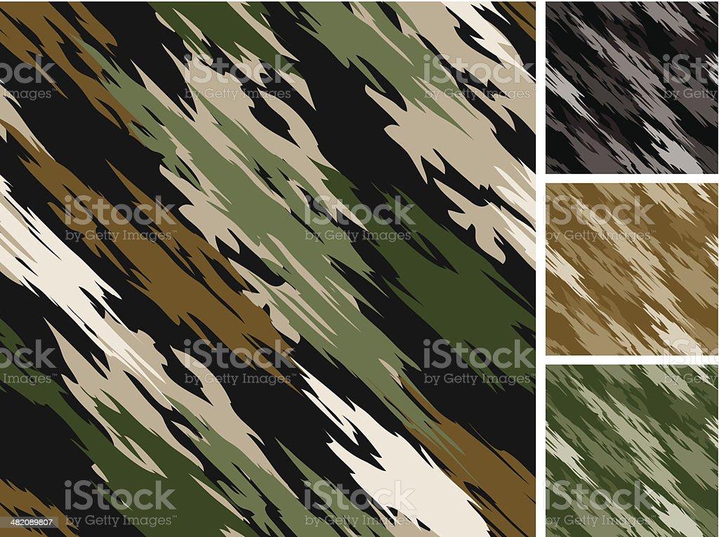 Tiger Stripe Camo Pattern Seamless royalty-free stock vector art