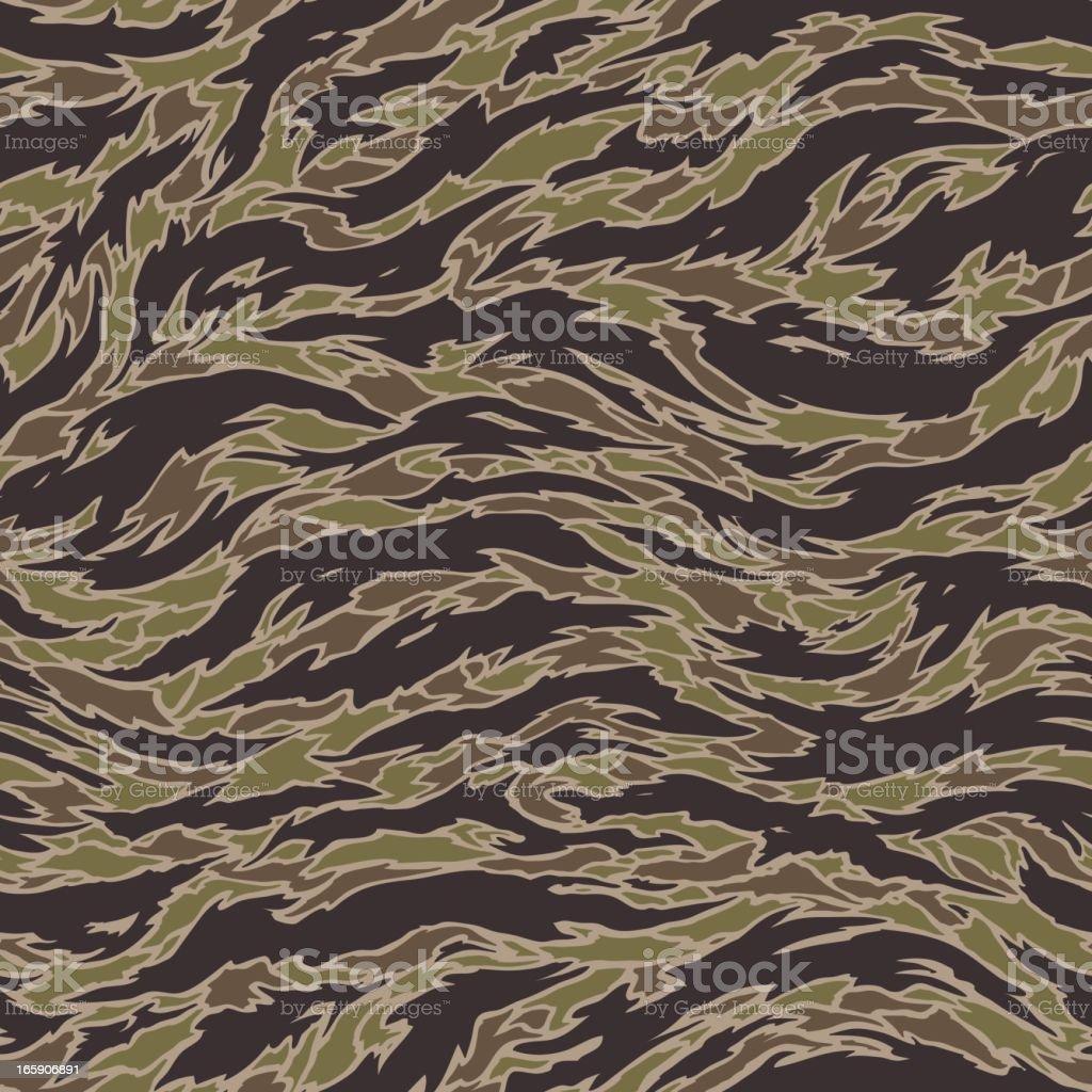 Tiger Stripe Camouflage - Seamless Tile vector art illustration