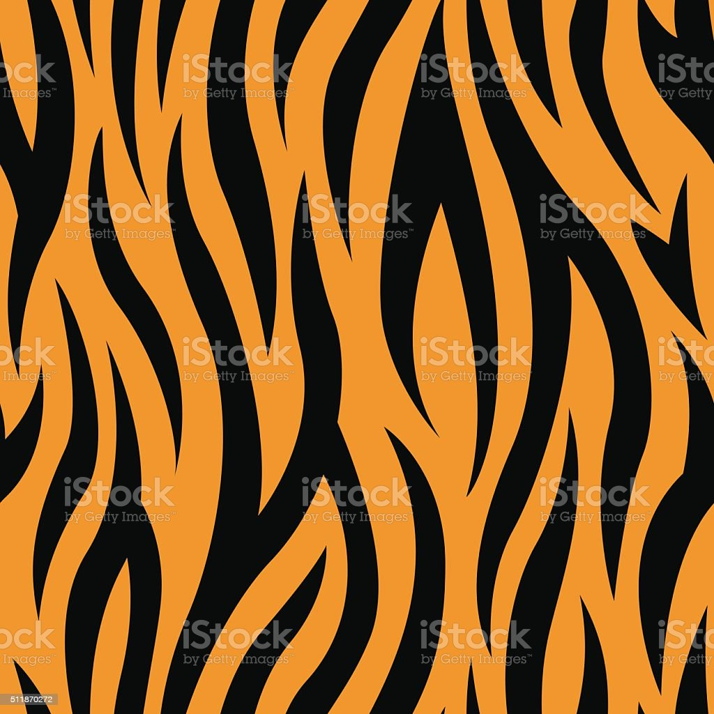 Tiger Stripes Seamless Pattern vector art illustration
