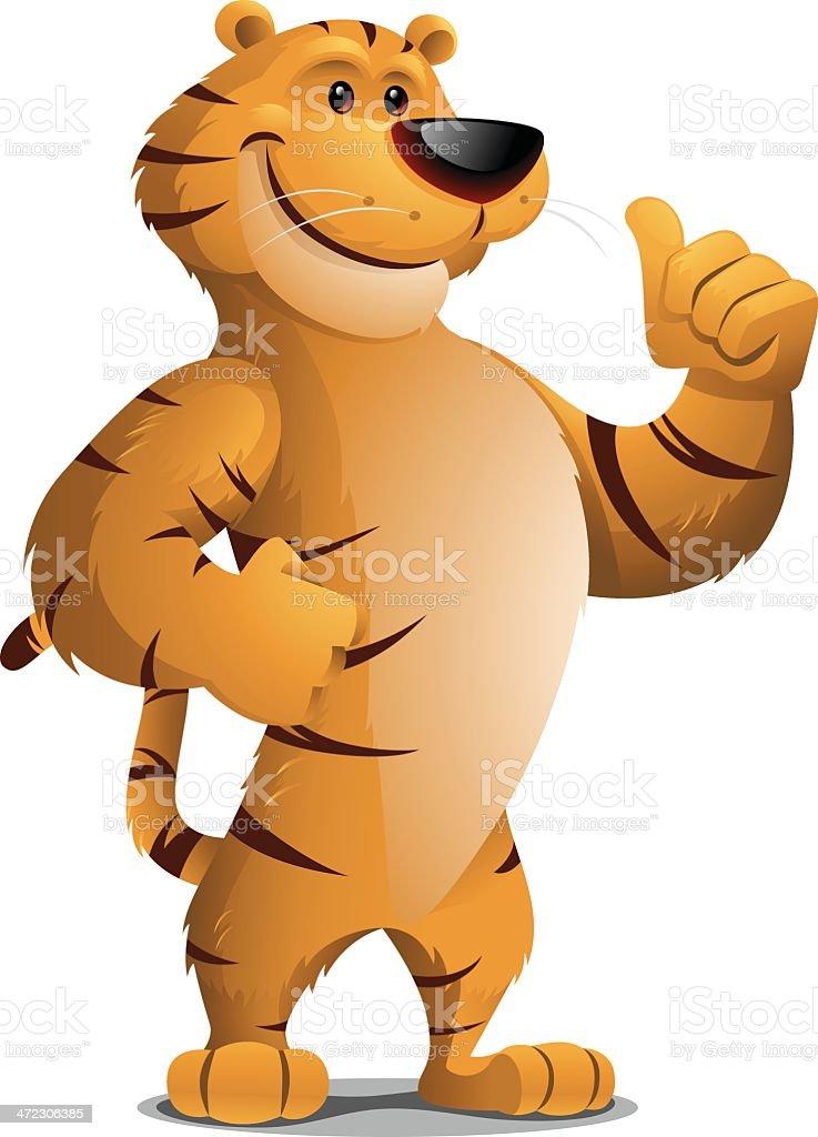 Tiger: Thumbs Up royalty-free stock vector art