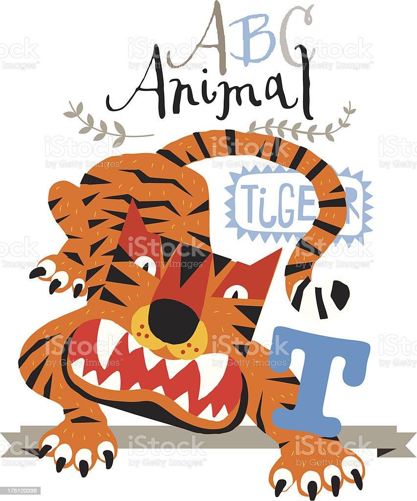 ABC tiger royalty-free stock vector art