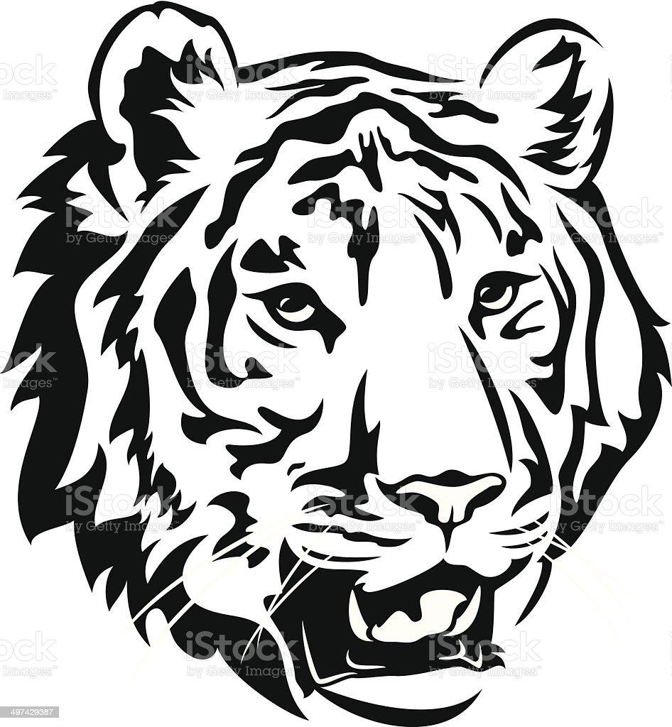 tiger vector art illustration