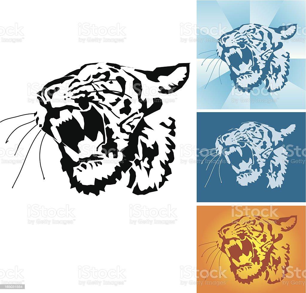Tiger - vector royalty-free stock vector art