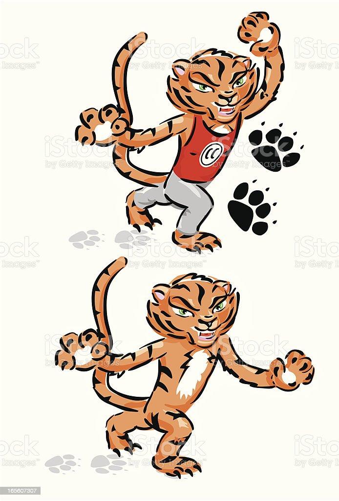 Tigeress Mascot royalty-free stock vector art
