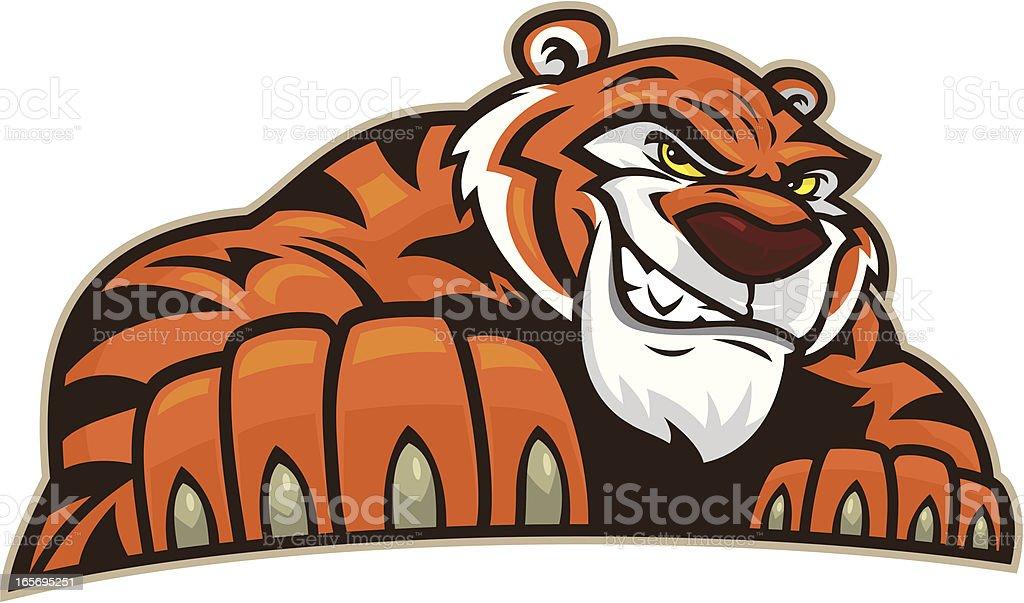 TigerStance royalty-free stock vector art