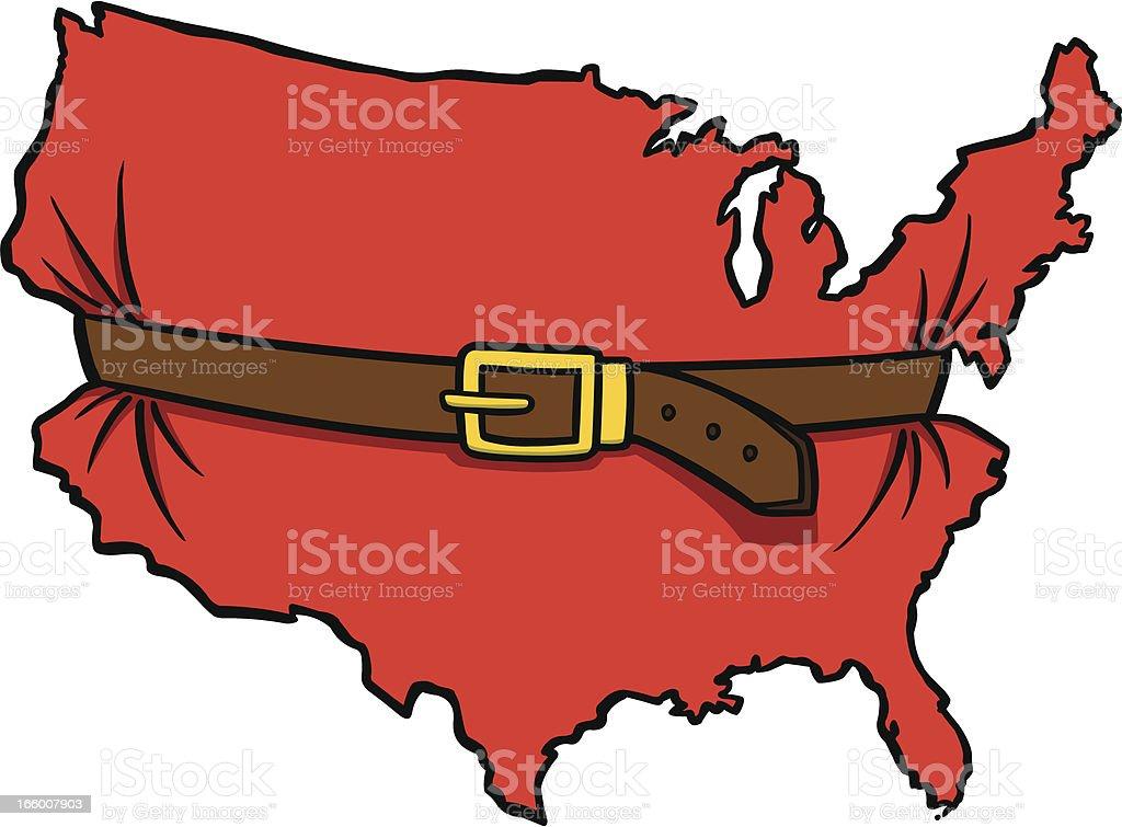 Tight Belt vector art illustration