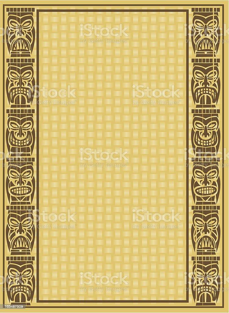 tiki background royalty-free stock vector art