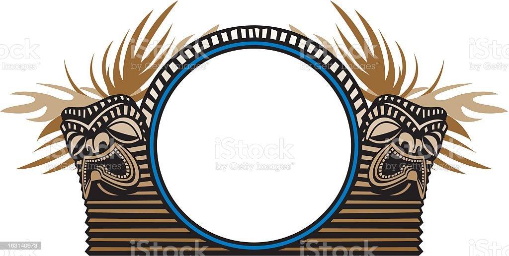 Tiki Frame royalty-free stock vector art