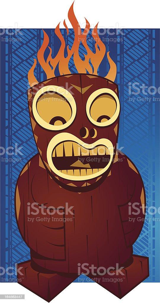 Tiki God vector art illustration