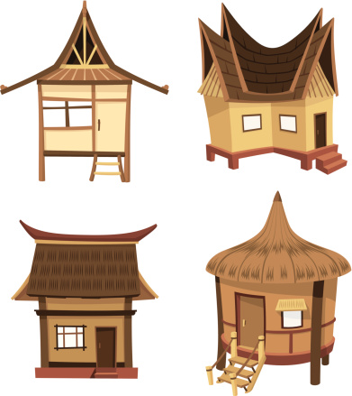 Beach Hut Clip Art, Vector Images & Illustrations - iStock